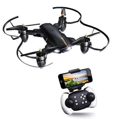 Drone Pieghevole JoyGeek Fotocamera HD WIFI FPV RC Drone Telecamera Helicopter 2.4GHz 4CH 6-Axis Gyro Quadcopter Grandangolare Selfie Modalità di Attesa LED Modalità Adulti e Principianti Helicopter