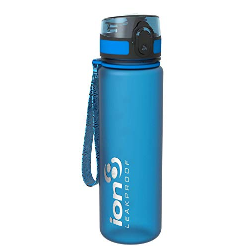 Ion8- Bottiglia per l'acqua, a prova di perdite, senza BPA., Unisex, Leak Proof BPA Free,Frosted...