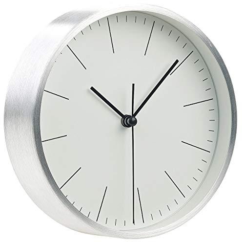St. Leonhard Tischuhren: Moderne Aluminium-Tisch- & Wanduhr mit Quarz-Uhrwerk, Ø 15 cm (Wohnzimmerwanduhr)