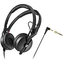 Sennheiser HD 25Black Supraaural Headphone–Auriculares (Supraaural, Wired, 16–220000páginas Hz, 120Db, 3m, Black)