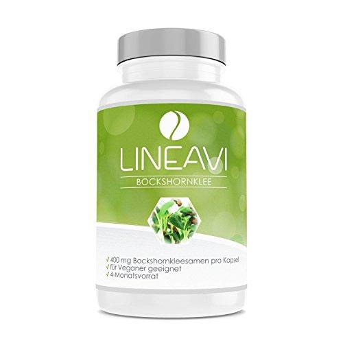 LINEAVI Fieno Greco, 400 mg di semi di fieno greco purissimo, favorisce la produzione del latte materno durante l'allattamento, contrasta la perdita dei capelli, 120 capsule vegane (per 4 mesi)