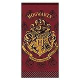 Harry Potter - Telo Mare Spiaggia Piscina - Logo Hogwarts - 70x140 cm - Cotone