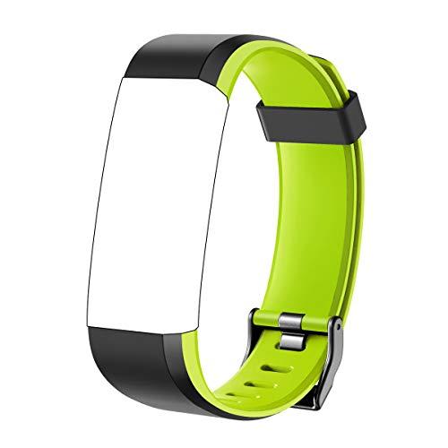 CHEREEKI Cinturino di Ricambio per Fitness Tracker ID115Plus HR (Verde)