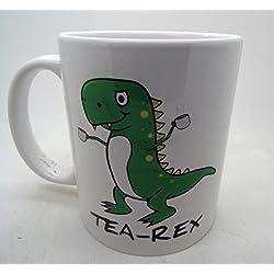 Tea-Rex Funny Dinosaur ml–taza de cerámica