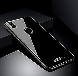 Kaufen SOCINY Xiaomi Mi Mix 2S Fall, Anti-Scratch-Glas-Rückendeckel + Clear Stoßfest TPU Bumper Schutzhülle, dünne dünne Phone Cases für Xiaomi Mi Mix 2S (für Xiaomi Mi Mix 2S, schwarz)