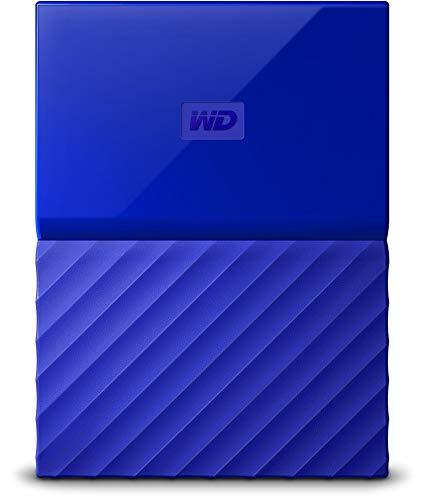 WD 1TB My Passport Hard Disk Esterno Portatile, USB 3.0, Blu - WDBYFT0010BBL-WESN