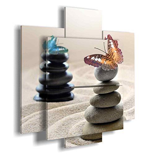 Cuadro Moderno Mariposas-multipannello a dos Niveles by duudaart