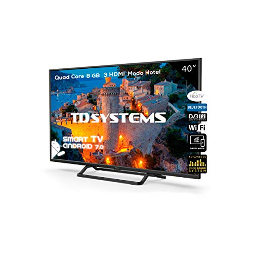 TV LED 40' Full HD Smart TD Systems K40DLX9FS. Risoluzione 1920 x 1080, 3x HDMI, VGA, 2x USB, Smart...