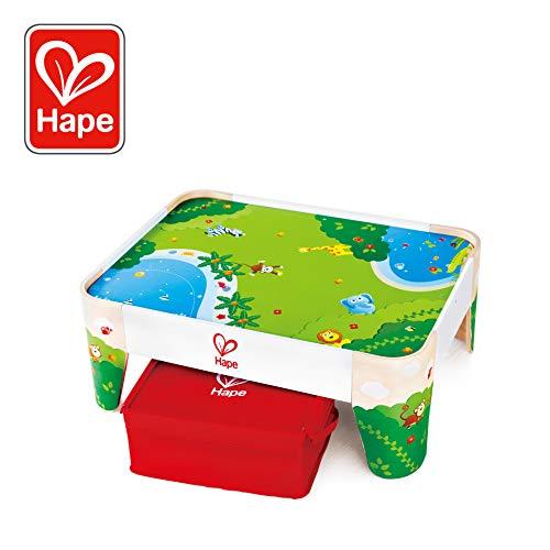 Hape International- Railway Play Table Tavolo Gioco Treno, Multicolore, Taglia Unica, E3823