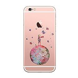 Kaufen Caler iPhone 6 6S Hülle Schutzhülle handyhüllen Weiche Flexible Silikon-Handy-Hülle Transparente Ultra Slim TPU Dünne stoßfeste Motiv Tasche Qualität Cover Smartphone iPhone 6 6S Case (der kleine Prinz)