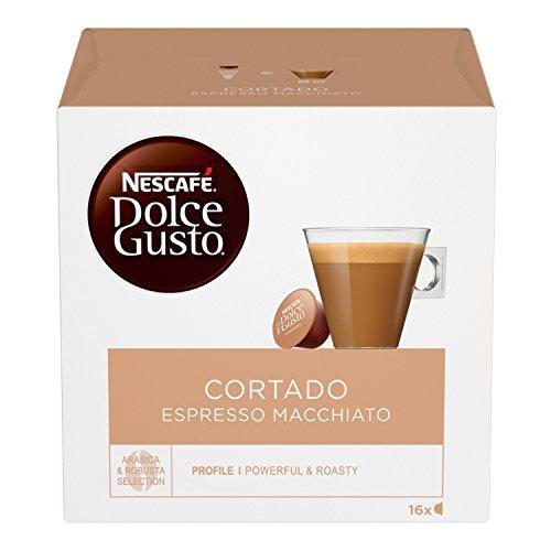 NESCAFÉ Dolce Gusto Cortado Espresso Macchiato, Caffè Macchiato, 6 Confezioni da 16 Capsule (96 Capsule)