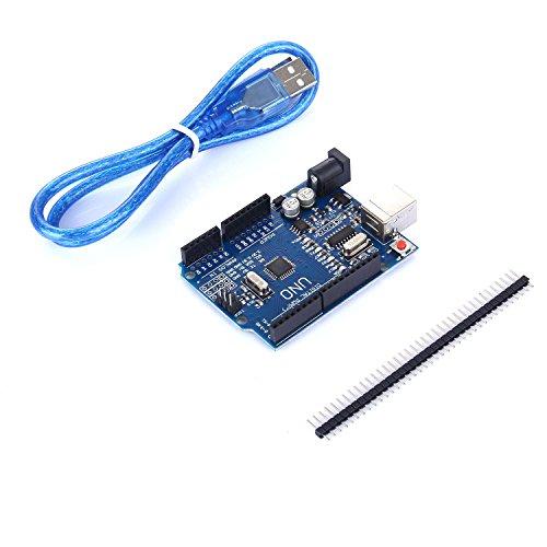 41FkIrn4%2BsL - tinxi® La nueva versión del UNO R3 de ATmega328P CH340 para Arduino + cable USB