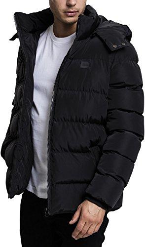 Urban Classics Hooded Puffer Jacket Giacca, Nero (Black 7), X-Large Uomo