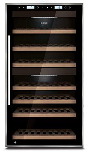 Caso WineMaster Touch 66 Freestanding Sistema per il Raffreddamento del Vino, Nero