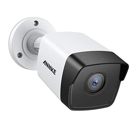 ANNKE Telecamera di sicurezza IP 5MP POE Full HD, Interno Esterno videosorveglianza, accesso remoto con 30m di visione notturna EXIR,aggiungere per videosorveglianza kit