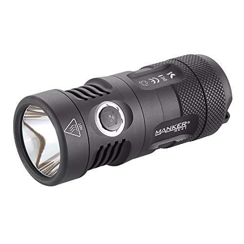 Neutral White : Manker MK41 HD 2000 Lumens Cree XHP35 HD LED Flashlight Compact Thrower Torch Use 4X AA / 4X 14500 Batteries