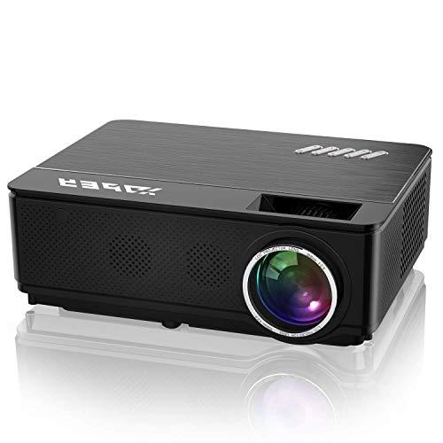 YABER Vidéoprojecteur 4200 Lumens Soutien 1080P Full HD Home Cinéma Projecteur LED avec Deux Haut-parleurs Stéréo (de Qualité HiFi - Haute-f... 4