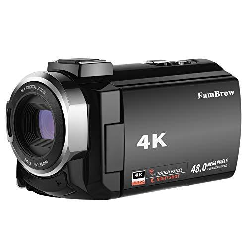 Caméscope 4K,FamBrow Caméra Vidéo WiFi 48MP IR Vision de Nuit 16 x Digital Zoom,Camescope Numerique 270 Degrés Rotatif Écran Tactile Camera ... 22