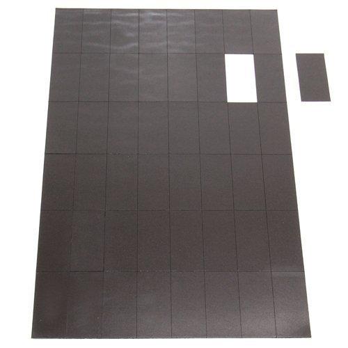 MAGNET Expert Ltd - Rettangoli magnetici flessibili autoadesivi 50 x 24 x 0,7 mm (48 a foglio)