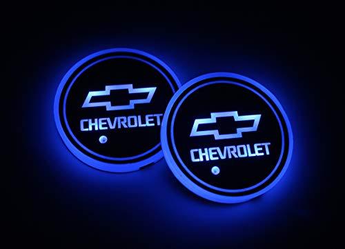 Interesting car Lot de 2 Lampes LED pour Porte-gobelet de Voiture 7 Couleurs changeantes USB Tapis de Charge Luminescent Tampon LED pour int... 24