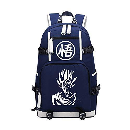 Dragon Ball Anime Zaino per Studenti Borsa da Scuola per Notebook Borsa Casual Daypack, Blu