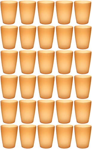 idea-station Neo Bicchieri plastica 30 Pezzi, 250 ml, Arancione, riutilizzabili, infrangibili,...
