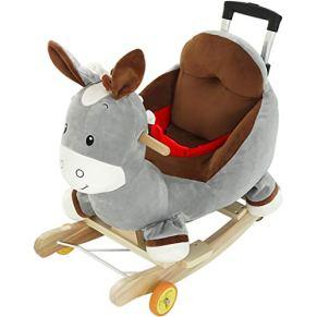 Rocking Horse Educación para la Primera Infancia Música Troyano Niño Bebé Silla Mecedora Bebé Mecedora Cuna de Juguete de Regalo 60 * 28 * 60 cm Xuan - Worth Having