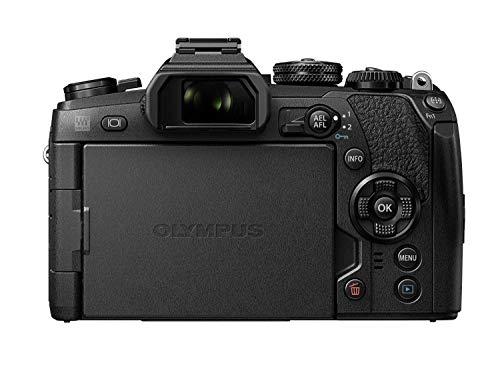 """Olympus OM-D E-M1 Mark II - Cámaras EVIL de 20.4"""" (hasta 60 fps por segundo y sistema de enfoque por detección de fase en chip con 121 áreas con cruz, video 4k) negro"""