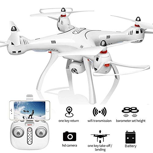 CrazyBuy Syma X8Pro FPV RC Quadcopter with 720P Camera Live Video 2.4GHz 6-Axis Gyro Drone with WiFi HD Camera, GPS Return Home, Altitude Hold, Headless Mode (White)