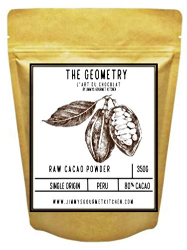 Jimmy's Gourmet Kitchen Cocoa Powder Cacao 80% 350g Single Origin Peru Raw Unprocessed Non-Alkaline
