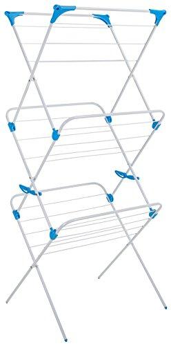 Minky 3 Stufen ausklappbarer Wäscheständer, weiß