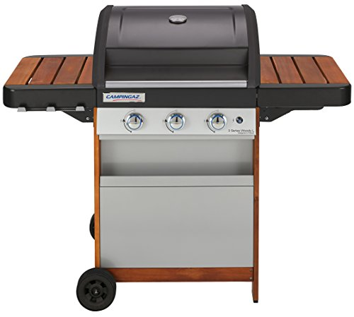 Campingaz BBQ a Gas, 3 Series Woody L, Barbecue Grill a 3 Bruciatori, 9.6 kW di Potenza, Sistema di...