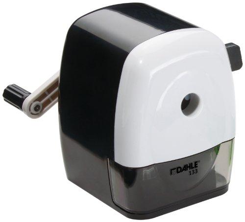 Dahle 133 Manuelle Spitzmaschine (Anspitzer für Stiftdurchmesser bis 11,5 mm) schwarz/weiß