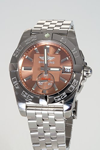 Breitling Galactic 36Damen Automatik Uhr mit Braun Zifferblatt Analog-Anzeige und Silber Edelstahl Armband A3733012/q582/376A - 2