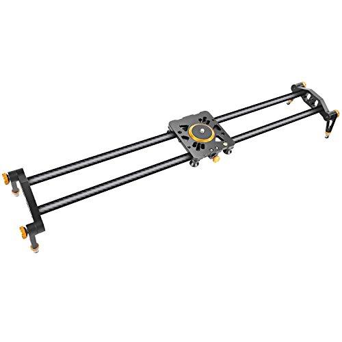 Neewer 47,2 pulgadas/120cm Pista Slider estabilizador Video carril cámara de fibra de carbono con 6 rodamientos para DSLR cámara DV Video Camcorder película fotografía cargar hasta 17,5 libras/8 kilos