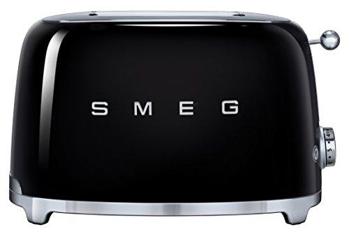 SMEG TSF01BLEU Grille-Pain, Métal, Noir