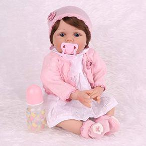 LFFDOLL Realistas Renacido muñecas muñecas bebé, recién Nacido niña durmiendo recién Nacido para fomentar la muñeca, niños Muchachos de Las niñas, de 22 Pulgadas,