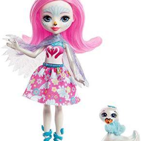 Enchantimals Muñeca con mascota Saffi Swan (Mattel FRH38) , color/modelo surtido