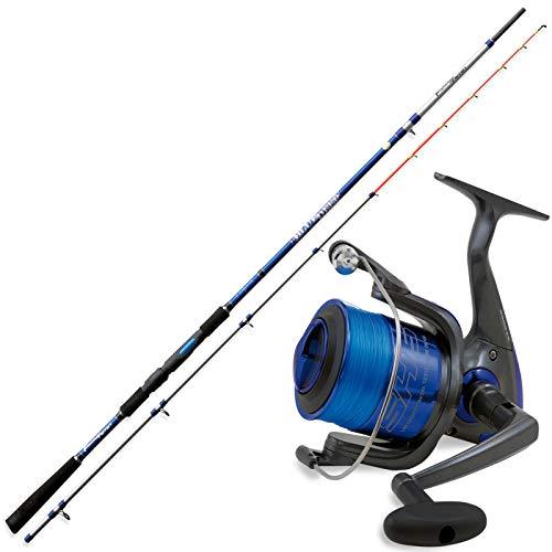 Fishing Ferrari Stupendo Kit BOLENTINO Deep Blue 2,50 m 150 Gr Canna Bolentino + Mulinello 5000 con Filo