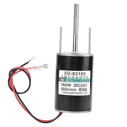 12 / 24V 150W Motor EléCtrico Cw/Ccw de Alta Velocidad Del Cepillo de Alta Potencia Del Poder Grande Para El Generador de Diy(24V5500rpm)