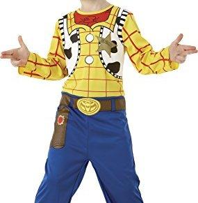 Toy Story - Disfraz de Woody clásico en caja para niño, infantil 3-4 años (Rubie's 883857-S)