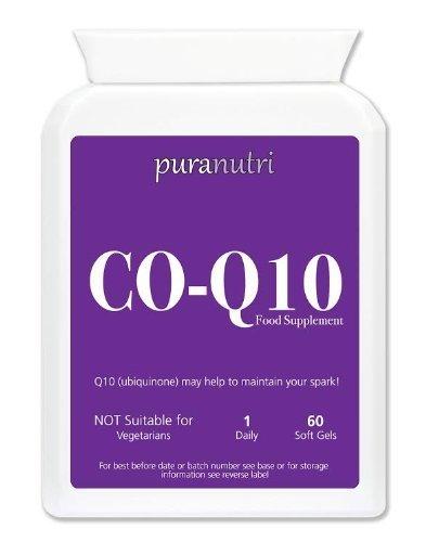 Puranutri coenzima Q10 (CoQ10) 300mg 60 gel morbido per l'ipertensione o pressione alta