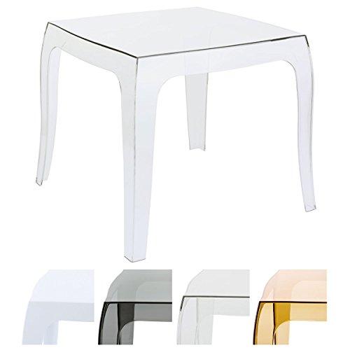 CLP Tavolino Moderno da Salotto in Polipropilene Queen | Tavolino da Appoggio Quadrato da Esterno |...