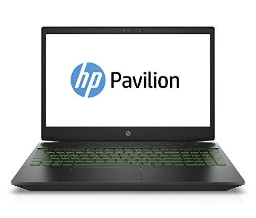 HP Pavilion Gaming 15-cx0206ng 39,62 cm (15,6 Zoll Full HD IPS) Gaming Laptop (Intel Core i5-8300H, 8GB RAM, 1TB HDD, 128GB SSD, Nvidia GeForce GTX 1050Ti 4GB, Windows 10 Home 64) schwarz / grün