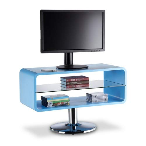 Relaxdays 10021918_45 Piedistallo Porta TV, Mobile Basso Televisore, Legno, Design Cube, HxLxP: 52 x...