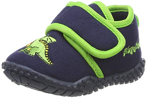 Playshoes Ciabatte- Drago, Pantofole Bambino, Blu Marine 11, 20/21 EU