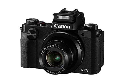 "Canon PowerShot G5 X - Cámara compacta de 20.2 Mp (pantalla de 3"", zoom óptico 4.2x, estabilizador digital, vídeo Full HD), color negro"
