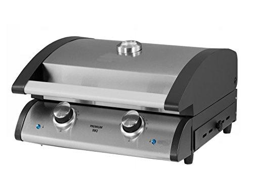Traedgard Barbecue da Tavolo Elettrico Indio 300, 2400 Watt, 2 Fiamme Fino a 300 Gradi, termostato...