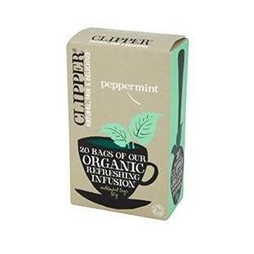 Clipper organic peppermint tea (soil association) (infusions) (20 bags) (a spicy tea with aromas of peppermint) (brews in 2-5 minutes)