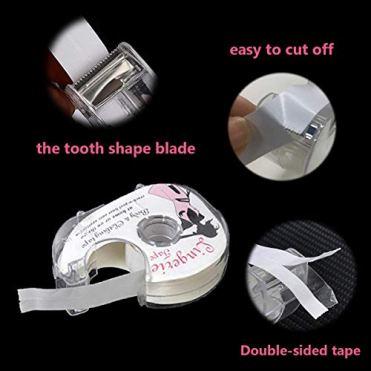 Fashion-Tape-Doppelseitiges-Klebeband-fr-den-Krper-Push-up-Tapes-Brusttape-Klebe-BH-Mit-Zwei-Rollen-Und-Abroller